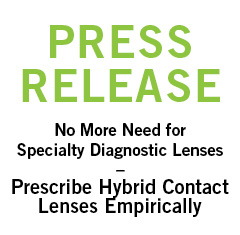 Hybrid Contact Lenses Now Prescribed Empirically